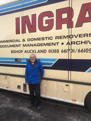 Ingram's complete a Homepack Container Service for Reverend John Marshall - Bishop Auckland to Derbyshire