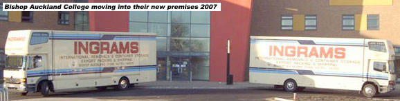 Moving Bishop Auckland College into their new premises 2007