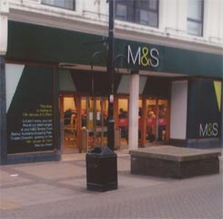 Marks and Spencers Store front - Bishop Auckland