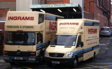 Ingram's clearing the contents of Marks & Spencers